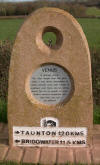 Venus marker on the Bridgwater & Taunton canal