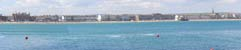Panoramic view of Weymouth beach