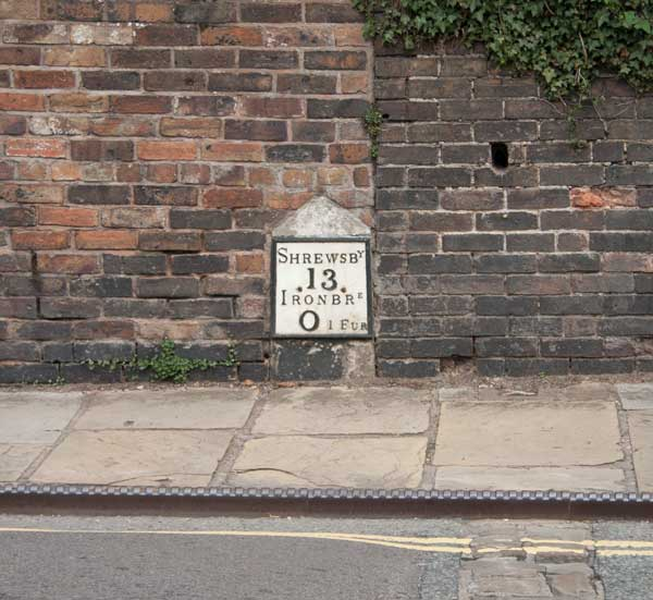 Milestone in Ironbridge