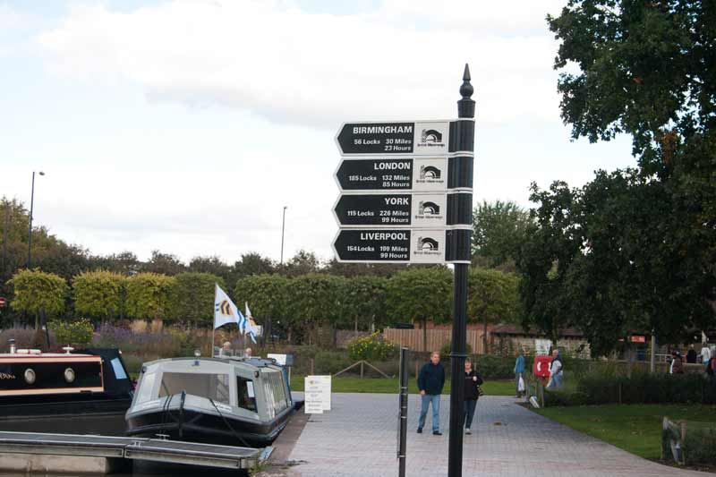 Canal signpost