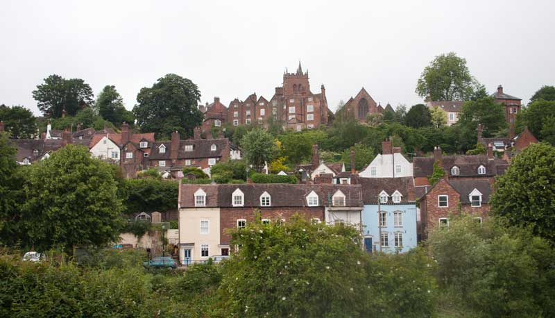 High Town, Bridgnorth across the Severn.