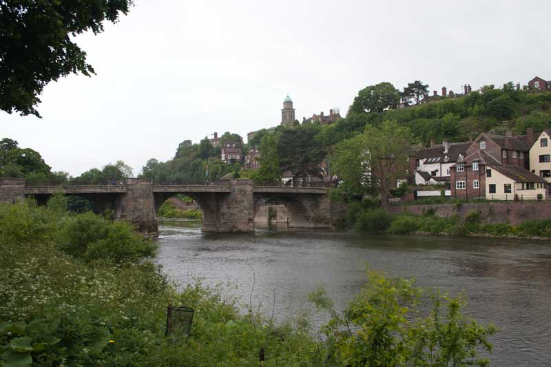 Bridge over the Severn with chucrch spire behind