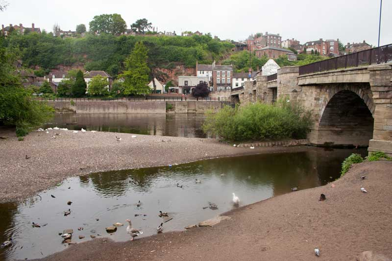 Rather low River Severn at Bridgnorth.