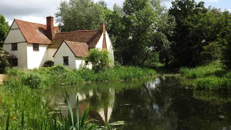 Willy Lot's cottage and the Haywain scene