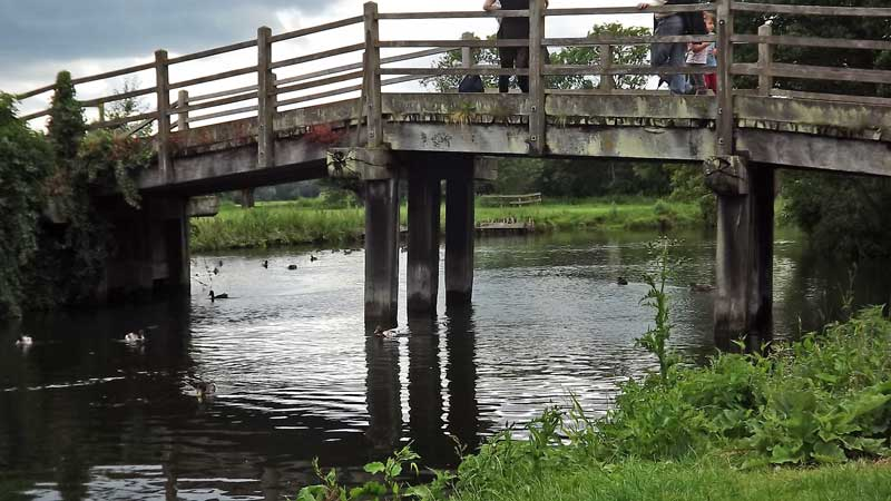 Footbridge over the River Stour at Flatford.