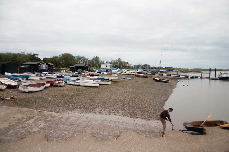 Boats on the shore at Orford