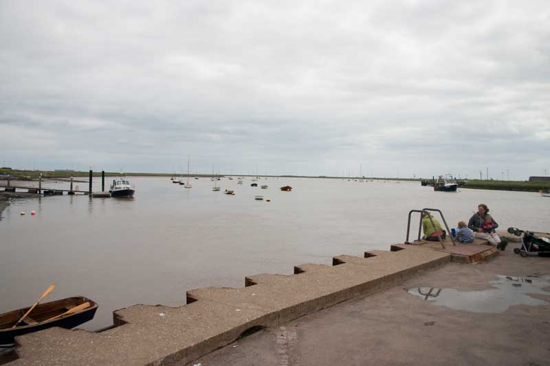 Looking toward the sea at Orford.