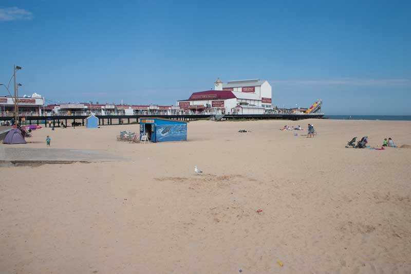 Great Yarmouth beach and pier.