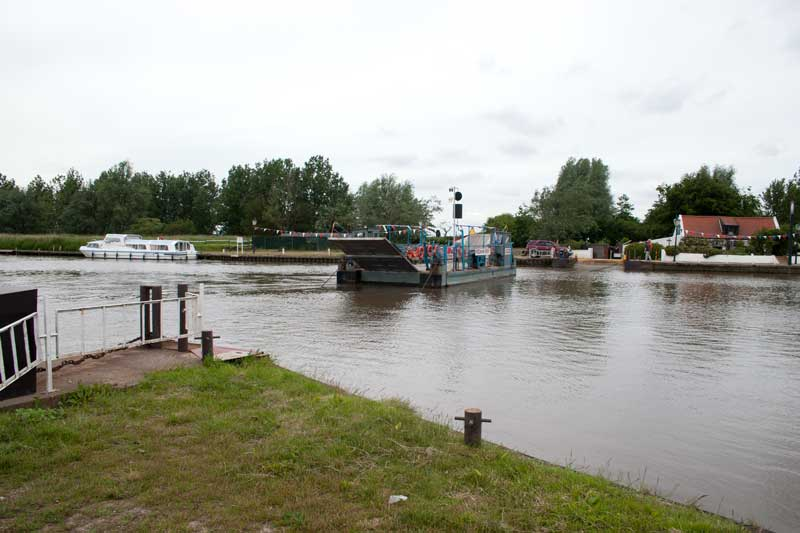 Reedham Ferry crossing the River Yare